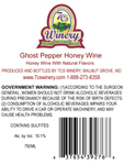 Ghost Pepper Mead Back Label