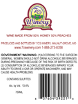 Peach Mead Back Label