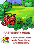 Raspberry Mead Front Label